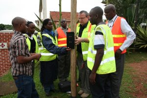 Survey equipment field training by Tracsis Traffic staff